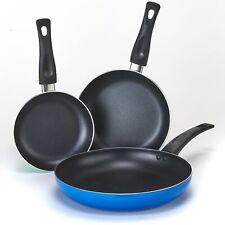 Frying Pan Set - Nonstick Aluminum Saute Pans for Cooking - 3-Pc.