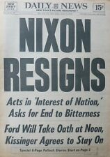 More details for nixon resigns watergate - ford to take oath kissinger to remain august 9 1974