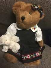 """Boyds Bears PLUSH 2002 ~10"""" CARINA T.MCBEANSLEY WITH BAH-BAH~ QVC EXCLUSIVE"""