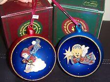 """Lot Of 2 Boyds Bears Ornaments """"Starlight Skier"""" """"Starlight Christmas"""" Nib 1997"""