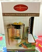 Electric Glass and Metal Wax Melt - Oil Warmer - ChickenWire - Free Shipping!