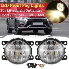 Pair Front Fog Light Lamps For Mitsubishi Outlander Sport / Eclipse / RVR /