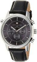 Tommy Hilfiger Men's 1790875 Sport Luxury Stainless Steel Watch Black Leather