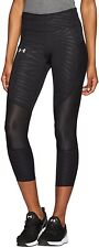 Under Armour Speedpocket Run Printed Womens Running 3/4 Capri Tights - Black