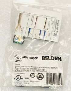 New No.27X1647 Belden R301601 000S1 Connector, Ethernet, Plug, 8 Position, Cable