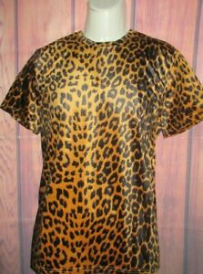MENS FOREVER 21 CHEETAH LEOPARD ANIMAL PRINT T-SHIRT SIZE S