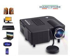 VIDEOPROIETTORE PROIETTORE LED MINI HD 1080P PROJECTOR AV USB VGA HDMI PC SD IT