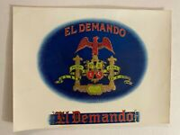 Vintage El Demando Cigar Box Label Puro Fina Eagle Bird