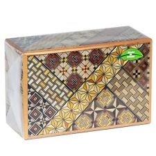 Japanese Wooden Samurai Yosegi Himitsu Puzzle Magic Trick Box 21 Steps HK-134