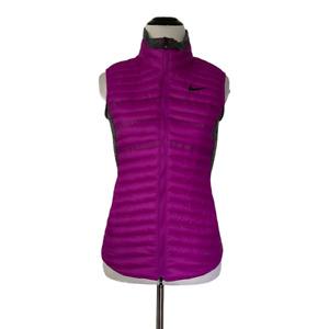 Nike Golf XS Purple Gray Aeroloft Vest Lightweight Quilted