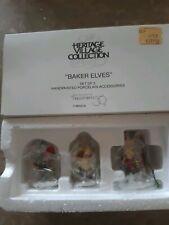 Dept 56 Heritage Village Collection Baker Elves 5603-0 Set of 3 Accessories
