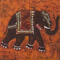 "large thai indian elephant energy art painting print 39"" x 39"""