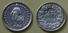 Schweiz Switzerland 1/2 Fr. Silber 1964 B    (18393