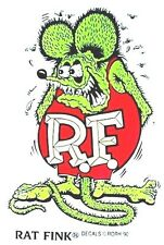 "Quality RAT FINK 3 3/4"" Decal Hot Rod Sticker Muscle Car Street Drag Racing GRN"