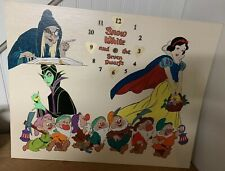 Vintage Snow White Disney Decor Handmade Hand painted Clock 1 Of A Kind!