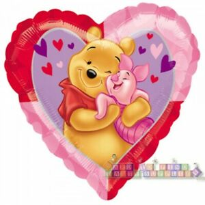 WINNIE THE POOH HEART SHAPED FOIL MYLAR BALLOON ~ Birthday Party Supplies Piglet