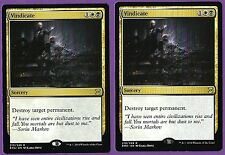 MTG - Vindicate x2 - Rare Sorcery - Eternal Masters - NM/MT