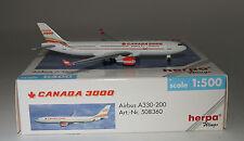 Herpa 508360 Airbus A330-202 Canada 3000 in 1:500 scale