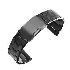 20 мм черный из нержавеющей стали ремешок для часов замена браслет браслет ремешок