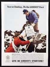 GORDON'S GIN - Vintage Magazine Advert (1960s) London Dry Gin *