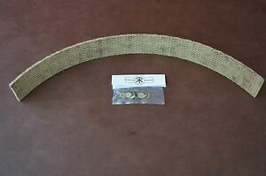 """1"""" x 3/16"""" x 12"""" Vintage Lawn & Garden Tractor Brake Band Lining & Rivets"""