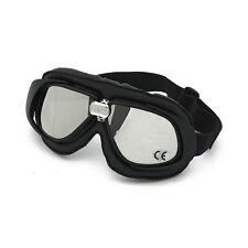 Occhiali Neri Goggle Bandit Classic Aviator Old Style Lenti Silver Specchiate