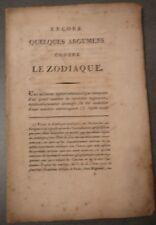 Encore quelques Arguments contre le Zodiaque. Monstre marin capricornus. XIXè S.