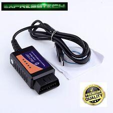 CAVO DIAGNOSI INTERFACCIA ELM 327 USB Scan OBD2 II V1.5 USB Universale per Auto