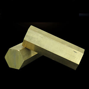 Solid Brass Hex Bar Hexagon Rod - 500mm Long - Multiple sizes available