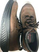 Skechers Mens Shape-Ups, Genuine Leather Walking Career Oxfords, Brown - Sze10