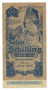 2.1.1933 AUSTRIA 10 Schilling Currency p#99