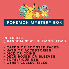 Pokemon Gift Box 5 items: GXEX Hats Cards Packs Toys Dice+M ?Tapu Lele Shaymin?