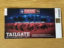 NFL International Series London 2009 Buccaneers Patriots Tailgate Ticket Stub
