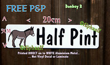 DONKEY Sign Stable door plaque Printed Aluminium personalised not vinyl or decal