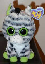 "Ty Beanie Boos ~ ZIG-ZAG 6"" Zebra (2011 UK VERSION Tags)(Solid Eyes) MWMT'S"