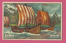 Viking Ship 1920s Erdal Boating Boat Ship Card from Germany