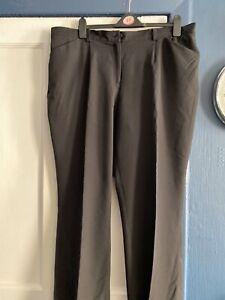 Ladies Taillissime Black Trousers Size 22 L29