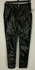 Urban Outfitters BDG Black Shiny Coated Heart Butt Skinny Pants Jeans Size 27