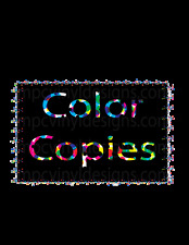 """Color Menu Copies 1000 - 8.5"""" x 11""""   32lb  Paper Professional Laser Print"""