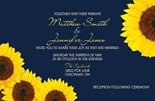 Wedding Invitations Sunflower Country 50 Invitations & RSVP Cards