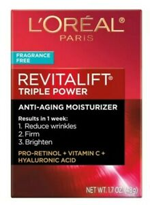 L'Oréal Revitalift Paris Anti-aging Moisturizer Cream - 1.7 fl oz Fragrance Free