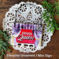 Wood Ornament DRAMA QUEEN * Gift for Binge watching friends USA KDrama