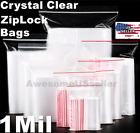 100+Bags+3x4%22+Small+Clear+Reclosable+Baggie+Zip+and+Lock+Plastic+Poly+Zipper+1Mi