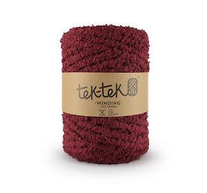 Cotton Bouclé MAROON  New Cotton Knitting Crochet Weaving Rug 120m washable