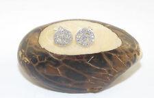 925 Sterling Silver PEACE Symbol Stud Earrings / Earring Clear Cubic Zircon