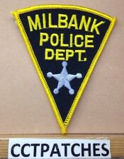 MILBANK, SOUTH DAKOTA POLICE SHOULDER PATCH SD