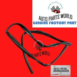NEW GENUINE TOYOTA 84-89 4RUNNER FRONT DOOR GLASS RUN CHANNEL W/VENT 68141-89108