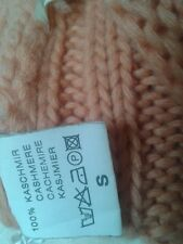 100 % Kaschmir Strickjacke von Sarah Gr.S Orange ,Cashmere Super Dick,Grob