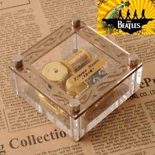 Acrylic Cubic Gold Wind Up Music Box : Hey Jude @ Beatles