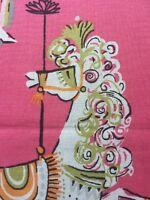 RPE592 Merry Go Round Carousel Horses Pony Alphabet Cotton Fabric Quilt Fabric